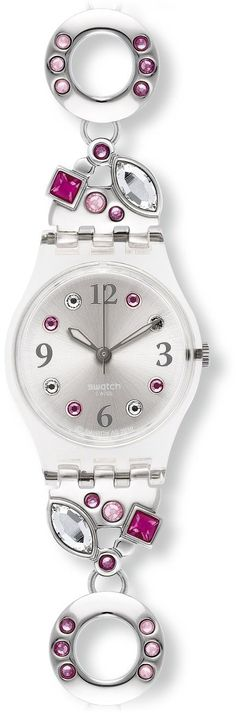 Swatch Women's Originals Silver Aluminum Quartz Watch with Silver Dial