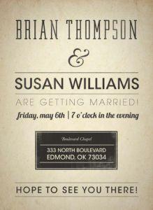 Brain & Susan | Wedding Invitation