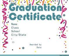 2 free elementary or preschool graduation certificates for 6th grade graduation certificate template