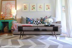 Mid century modern living room >> Fabulously Vintage >> DIY Coffee Table
