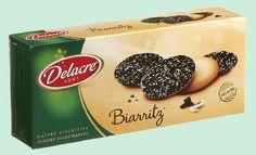 DELACRE Biarritz 175gr (biscuits au chocolat Belge) Biscuit Delacre, Biscuits, Biarritz, C'est Bon, Belgian Chocolate, Sugar, Crack Crackers, Cookies, Biscuit