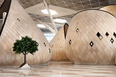 autoban heydar aliyev international airport azerbaijan designboom