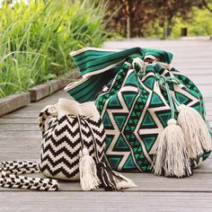 Wayuu Bags by Guanábana Handmade. Hand crocheted in Columbia.