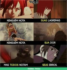"""our tears when we are bad they do not """"notice"""" more ours, defects fast note. More when they are we have to notice when it is bad. Naruto Uzumaki, Anime Naruto, Manga Anime, Teen Wolf Dylan, Otaku Meme, Sad Life, Tokyo Ghoul, Nerd, Pasta"""