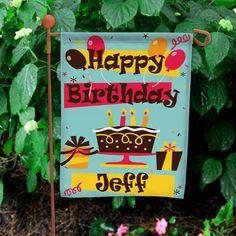 Personalized Birthday Garden Flag | Happy Birthday Flag with Custom Name
