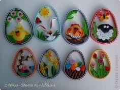 Поделка изделие Пасха Квиллинг Пасхальные 2д яйца и другие украшения - 2013 Бумага фото 2