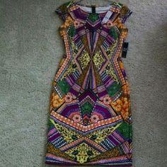 New York & Company Multicolored Dress