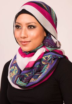 The Haute Hijab Chiffon Paisley Piping Shawl makes a stylish complement to any modern muslimah wardrobe. It features a multicolored design on soft and lightweight material. Wear this beautiful shawl to gracefully match your outfit for any events, making this shawl perfect to accessorize. Suitable for scarf, tudung, turban and wrap. L: 180cm x W: 70cm. $75(RM). Visit www.zalora.com.my for more scarves.