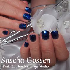CND Shellac Midnight Swim with the additive Periwinkle Twinkle.