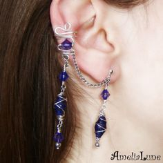 Grah, cutest ear thing ever. #earring #jewelry #wire