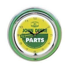 c116a502081 John Deere Neon Light Up Clock John Deere Toys, John Deere Tractors, John  Deere