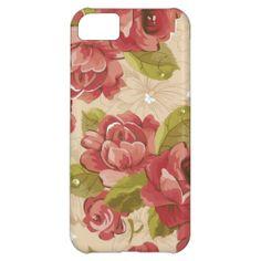 Elegant  vintage floral iPhone 5 case