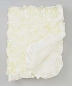 Look what I found on #zulily! 27'' x 34'' White Rosette Stroller Blanket #zulilyfinds