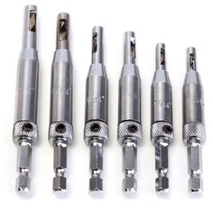 [US$9.98] 6pcs HSS Hex Shank Self Centering Door Lock Hinge Drill Bit Pilot Hole Tool Hole Saw Drill Bits  #6pcs #bits #centering #door #drill #hinge #hole #lock #pilot #self #shank #tool