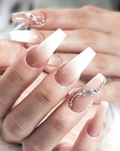 In seek out some nail designs and ideas for your nails? Here's our listing of must-try coffin acrylic nails for modern women. Gold Acrylic Nails, Acrylic Nails Coffin Short, Simple Acrylic Nails, Coffin Nails, Matte Nails, Wedding Acrylic Nails, Bling Nails, Swag Nails, Rhinestone Nails