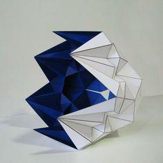 Sahand Hesamiyan  Gonbade Kabood (Lapis Lazuli Dome) - 2012 (Steel and Paint / 60 * 69 * 60 cm)