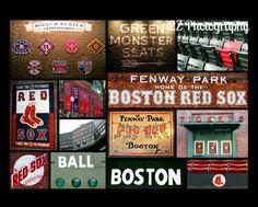Boston Red Sox Fenway Collage Photo Print. $20.00, via Etsy.