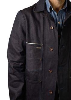 Selvedge denim engineer jacket by Shaabi Denim