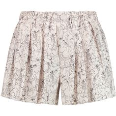 Rag & bone Holten printed silk crepe de chine shorts (€125) ❤ liked on Polyvore featuring shorts, high rise shorts, high-rise shorts, stretch waist shorts, high-waisted shorts and pastel high waisted shorts