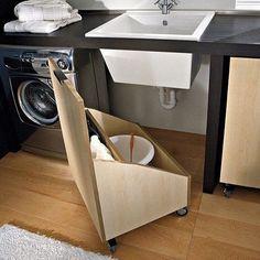 Super ideias para pequenos lugares!! Para quem não tem espaço na lavanderia achei a ideia ótima!!! Inspirações By @Pinterest #MeninaOrganizada #MaraIsaAlcantara #BlogMeninaOrganizada #Pinterest
