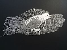 Paper-cutting art with an amazing level of details Paper Cutting, Cut Paper Illustration, Art Illustrations, Maude, Lotus Tattoo Design, Paper Cut Design, Kirigami, Colossal Art, Paper Animals
