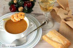 Bisque de langostinos. Receta de Navidad Quick Healthy Meals, Healthy Dessert Recipes, Breakfast Recipes, Desserts, Slow Food, Food Humor, Snacks, Cooking Time, Food Hacks