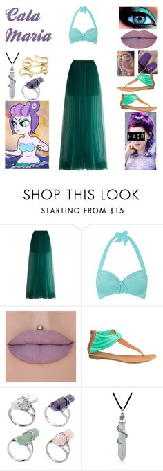 """""""Cala Maria"""" by sydneytorrie-916 ❤ liked on Polyvore featuring Delpozo, Seafolly, Deborah Lippmann, maurices, Bling Jewelry and 2b bebe"""