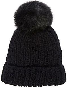 237c046c8f7 Barneys New York WOMEN S POM-POM-EMBELLISHED HAT - BLACK