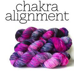 Image of Chakra Alignment - Hand Dyed Sock Yarn
