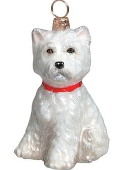 westie (west highland white terrier) - Westie Christmas Ornament - Puppy