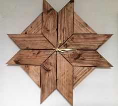 reccyled pallet wood clock