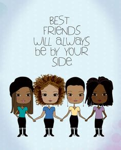 African American Best Friends - Art Print via Etsy http://pincurlgirls.com