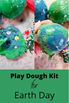 Play Dough Kit for Earth Day - The Sprouting Minds Easy Crafts For Kids, Diy Home Crafts, Craft Activities For Kids, Family Activities, Blue Food Coloring, Homemade Playdough, Play Dough, Creative Play, Earth Day
