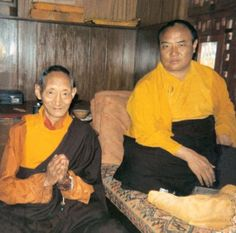 His Holiness the 16th Karmapa, Rangjung Rigpe Dorje with Kyabje Kalu Rinpoche