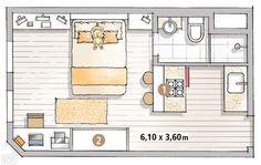 Vivre et travailler dans 22m² | PLANETE DECO a homes world
