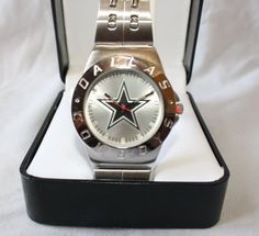 NEW* NFL Dallas Cowboys Mens Stainless Steel Watch Collectible