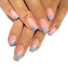 the longest natural nails 💙.Prep @navyprotools.Using @premier.gel Paris Tape Nail Art, Nail Art Diy, Diy Nails, Long Natural Nails, Natural Nail Designs, Nail Art For Beginners, Nude Nails, Acrylic Nails, Gel Manicure
