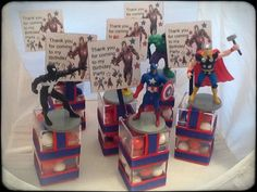 Marvel Avengers birthday party favor by angilee123 on Etsy, $30.00