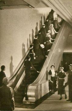 danismm: Marshall Field - new escalator 1930's -... | The Flapper Girl | Bloglovin'