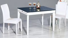 "AtHome DT6016+ DC8088W Diningroom Set - This DT6016 and DC8088 table and chairs would fit any home due to the large variety of colors and finishings. At Home USA has it all: from popular classics models to unusual modern pieces. We bring furniture to a masterpiece level, especially with these DT6016 and DC8088 table and chairs. Size : Dining Table :  42"" / 71 "" x 31.5"" x 30"" Chair : 21 x 19 x 36"