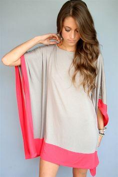 Taupe/Fire Eve Kaftan Dress
