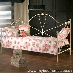 Regency ivory metal day bed
