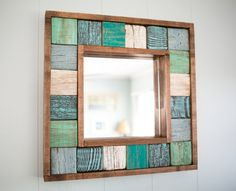 Your place to buy and sell all things handmade Painted Anchor Wall Art 29 Diy Pallet Sofa, Diy Pallet Furniture, Diy Pallet Projects, Driftwood Frame, Painted Driftwood, Anchor Wall Art, Nautical Mirror, Pallet Wall Shelves, Handmade Mirrors