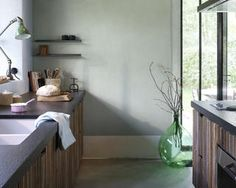 Early dew by Flexa colors. Kitchen Interior, Interior And Exterior, Color Inspiration, Interior Inspiration, Kitchen Inspiration, Classic Kitchen, Nice Kitchen, Kitchen Sink, Colour Architecture