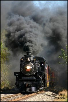 Ohio Central Steam by DragonWolfACe on DeviantArt Art Transportation, Train Vacations, Old Steam Train, Old Trains, Vintage Trains, Choo Choo Train, Pennsylvania Railroad, Train Pictures, Trucks And Girls