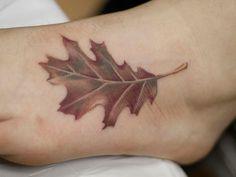Soft Curves Leaf Tattoo Design ~ http://tattooeve.com/leaf-tattoo-design-ideas/ Tattoo Ideas