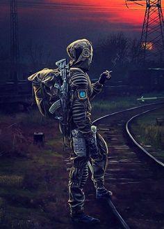 Apocalypse Armor, Arte Zombie, Post Apocalyptic Art, Fallout Art, Anime Furry, Fantasy Armor, Chernobyl, Retro Futurism, Cyberpunk