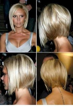 Short Angled Bob Hairstyles Back View. I really want to cut my hair like this once I lose weight. Cut My Hair, New Hair, Hair Cuts, Short Angled Bobs, Short Stacked Hair, Short Layers, Inverted Bob Hairstyles, Bob Haircuts, Chinese Bob Hairstyles