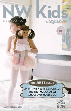 NW Kids Magazine January 2014. The ARTS Issue