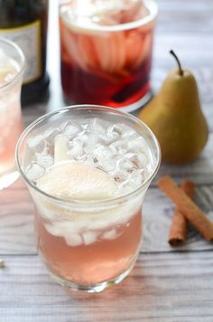 Pear Pomegranate Sangria - the perfect fall drink recipe!